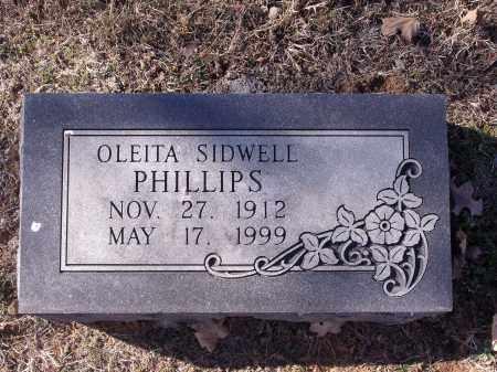 SIDWELL PHILLIPS, OLEITA - Washington County, Arkansas | OLEITA SIDWELL PHILLIPS - Arkansas Gravestone Photos