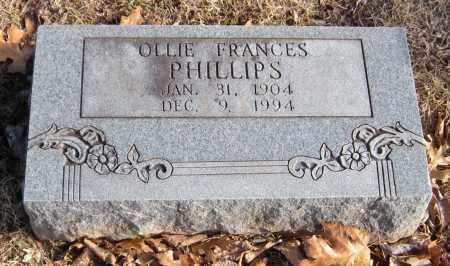 PHILLIPS, OLLIE FRANCES - Washington County, Arkansas | OLLIE FRANCES PHILLIPS - Arkansas Gravestone Photos