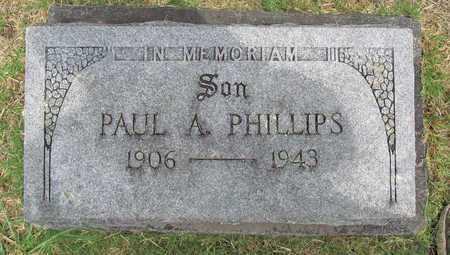 PHILLIPS, PAUL A - Washington County, Arkansas   PAUL A PHILLIPS - Arkansas Gravestone Photos