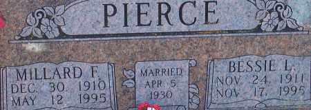PIERCE, MILLARD F - Washington County, Arkansas | MILLARD F PIERCE - Arkansas Gravestone Photos
