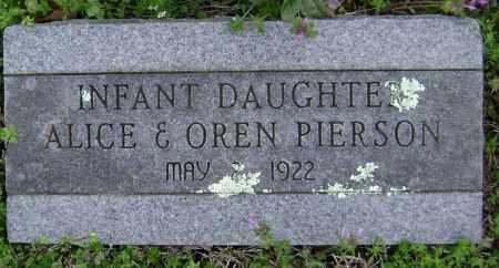 PIERSON, INFANT DAUGHTER - Washington County, Arkansas | INFANT DAUGHTER PIERSON - Arkansas Gravestone Photos