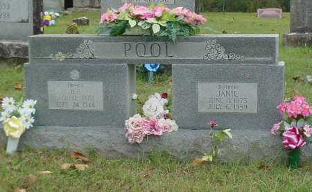 "BENTON POOL, SARAH JANE ""JANIE"" - Washington County, Arkansas 