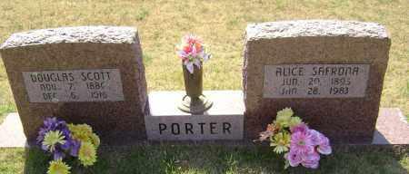 PORTER, ALICE SAFRONA - Washington County, Arkansas | ALICE SAFRONA PORTER - Arkansas Gravestone Photos