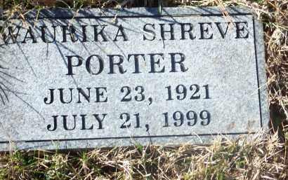 SHREVE PORTER, WAURIKA - Washington County, Arkansas | WAURIKA SHREVE PORTER - Arkansas Gravestone Photos