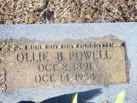POWELL, OLLIE B. - Washington County, Arkansas | OLLIE B. POWELL - Arkansas Gravestone Photos