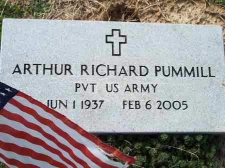 PUMMILL (VETERAN), ARTHUR RICHARD - Washington County, Arkansas | ARTHUR RICHARD PUMMILL (VETERAN) - Arkansas Gravestone Photos
