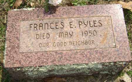 PYLES, FRANCES E. - Washington County, Arkansas | FRANCES E. PYLES - Arkansas Gravestone Photos