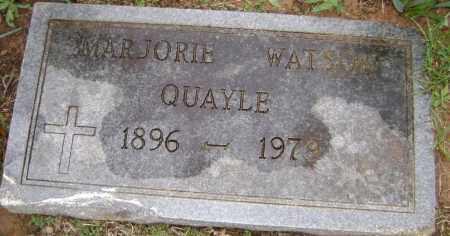 WATSON QUARLE, MARJORIE - Washington County, Arkansas | MARJORIE WATSON QUARLE - Arkansas Gravestone Photos
