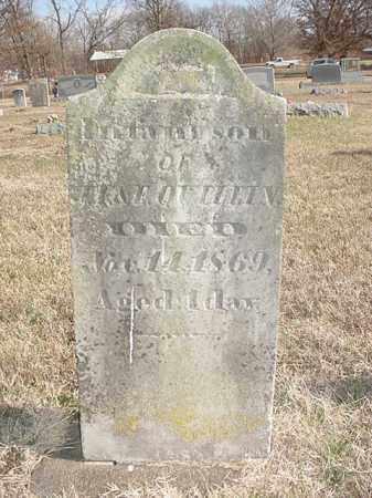 QUILLIN, INFANT SON - Washington County, Arkansas   INFANT SON QUILLIN - Arkansas Gravestone Photos
