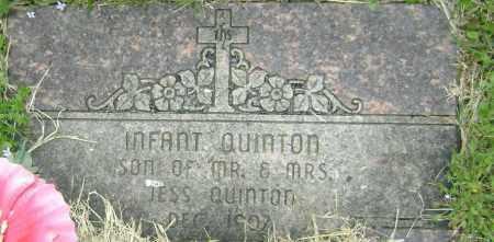 QUINTON, INFANT SON - Washington County, Arkansas   INFANT SON QUINTON - Arkansas Gravestone Photos