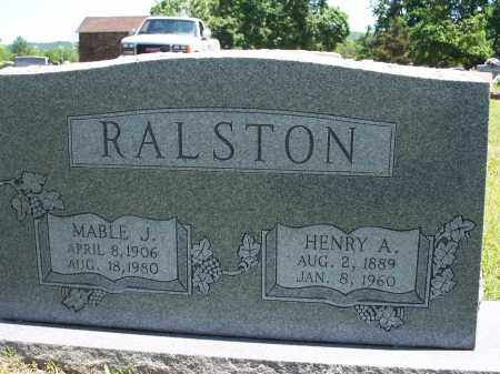 RALSTON, MABLE J. - Washington County, Arkansas   MABLE J. RALSTON - Arkansas Gravestone Photos