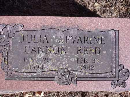 CANNON REED, JULIA SEVARINE - Washington County, Arkansas | JULIA SEVARINE CANNON REED - Arkansas Gravestone Photos
