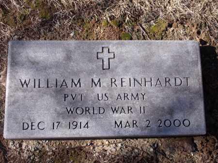 REINHARDT (VETERAN WWII), WILLIAM M - Washington County, Arkansas   WILLIAM M REINHARDT (VETERAN WWII) - Arkansas Gravestone Photos