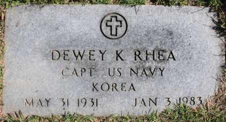 RHEA (VETERAN KOR), DEWEY K. - Washington County, Arkansas | DEWEY K. RHEA (VETERAN KOR) - Arkansas Gravestone Photos