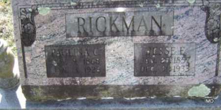 RICKMAN, JESSE E. - Washington County, Arkansas | JESSE E. RICKMAN - Arkansas Gravestone Photos