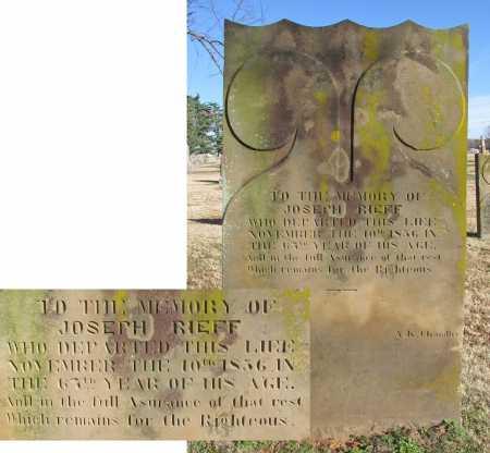 RIEFF, JOSEPH - Washington County, Arkansas   JOSEPH RIEFF - Arkansas Gravestone Photos