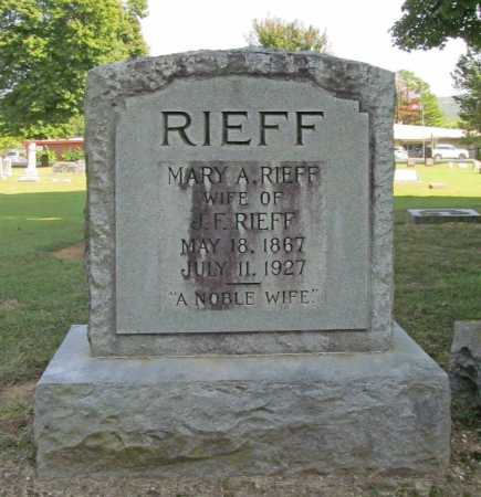 RIEFF, MARY A. - Washington County, Arkansas | MARY A. RIEFF - Arkansas Gravestone Photos