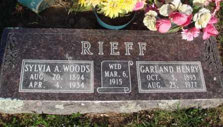 WOODS RIEFF, SYLVIA A. - Washington County, Arkansas | SYLVIA A. WOODS RIEFF - Arkansas Gravestone Photos