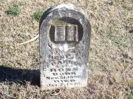 ROSS, HENRY PARKER - Washington County, Arkansas | HENRY PARKER ROSS - Arkansas Gravestone Photos