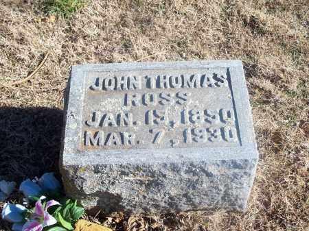 ROSS, JOHN THOMAS - Washington County, Arkansas   JOHN THOMAS ROSS - Arkansas Gravestone Photos