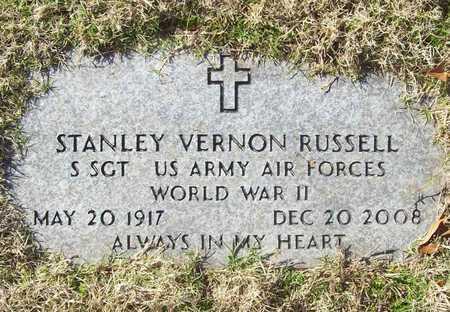 RUSSELL (VETERAN WWII), STANLEY VERNON - Washington County, Arkansas | STANLEY VERNON RUSSELL (VETERAN WWII) - Arkansas Gravestone Photos