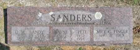 "SANDERS, WAYNE E. ""PETE"" - Washington County, Arkansas 
