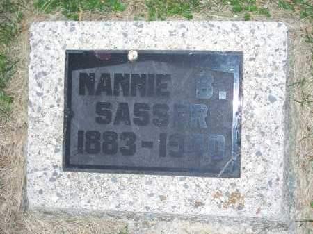 SASSER, NANNIE B. - Washington County, Arkansas   NANNIE B. SASSER - Arkansas Gravestone Photos