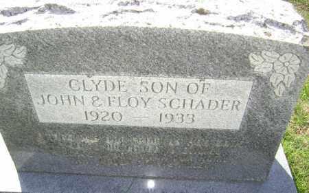 SCHADER, CLYDE - Washington County, Arkansas | CLYDE SCHADER - Arkansas Gravestone Photos