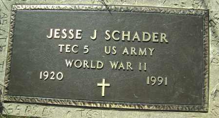SCHADER (VETERAN WWII), JESSE J. - Washington County, Arkansas   JESSE J. SCHADER (VETERAN WWII) - Arkansas Gravestone Photos