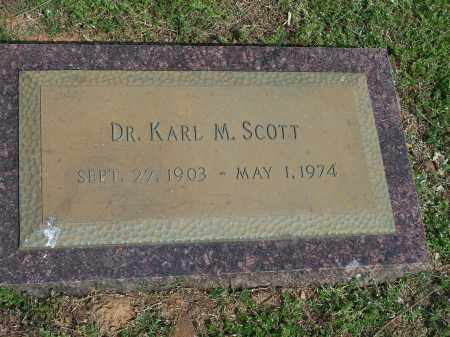SCOTT, KARL M., DR. - Washington County, Arkansas   KARL M., DR. SCOTT - Arkansas Gravestone Photos