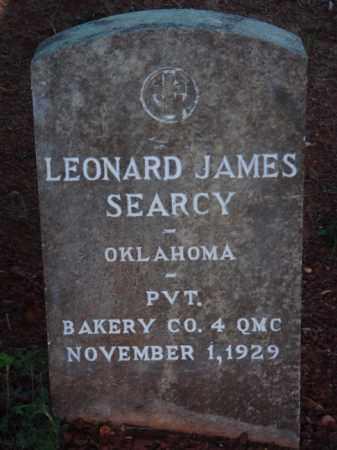 SEARCY  (VETERAN), LEONARD JAMES - Washington County, Arkansas | LEONARD JAMES SEARCY  (VETERAN) - Arkansas Gravestone Photos