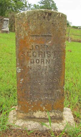 SECRIST, JOHN - Washington County, Arkansas   JOHN SECRIST - Arkansas Gravestone Photos