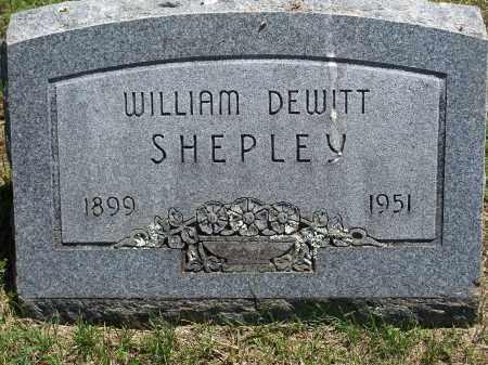 SHEPLEY, WILLIAM DEWITT - Washington County, Arkansas | WILLIAM DEWITT SHEPLEY - Arkansas Gravestone Photos