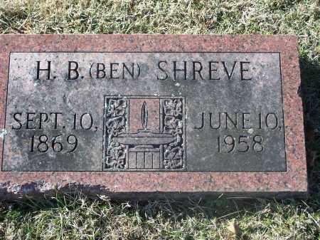 SHREVE, H. B. (BEN) - Washington County, Arkansas   H. B. (BEN) SHREVE - Arkansas Gravestone Photos
