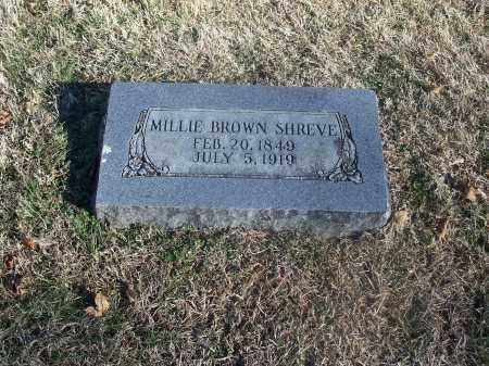 BROWN SHREVE, MILLIE - Washington County, Arkansas   MILLIE BROWN SHREVE - Arkansas Gravestone Photos