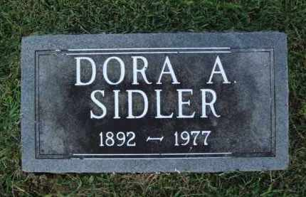 SIDLER, DORA A. - Washington County, Arkansas | DORA A. SIDLER - Arkansas Gravestone Photos