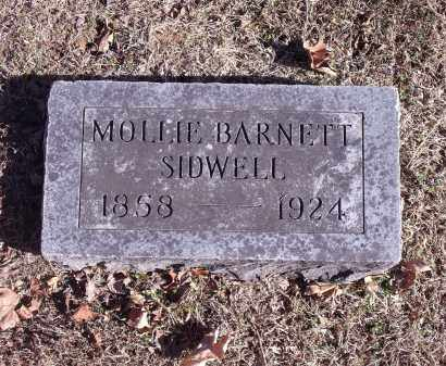 BARNETT SIDWELL, MOLLIE - Washington County, Arkansas   MOLLIE BARNETT SIDWELL - Arkansas Gravestone Photos