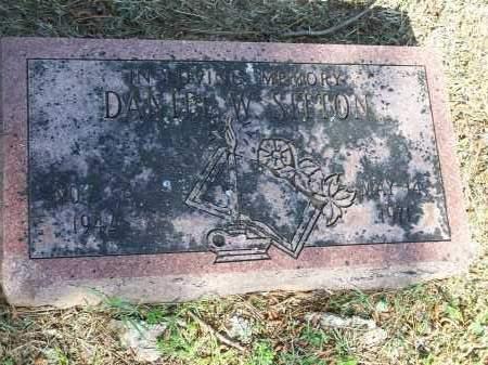 SITTON, DANIEL W. - Washington County, Arkansas   DANIEL W. SITTON - Arkansas Gravestone Photos