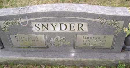 SNYDER, GEORGE F. - Washington County, Arkansas | GEORGE F. SNYDER - Arkansas Gravestone Photos