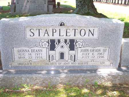 STAPLETON, JOHN ORSON, III - Washington County, Arkansas | JOHN ORSON, III STAPLETON - Arkansas Gravestone Photos