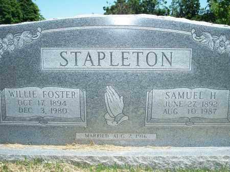 FOSTER STAPLETON, WILLIE - Washington County, Arkansas | WILLIE FOSTER STAPLETON - Arkansas Gravestone Photos