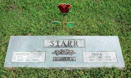 STARR, FRANK W. - Washington County, Arkansas | FRANK W. STARR - Arkansas Gravestone Photos