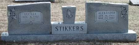 STIKKERS, ALEXANDER - Washington County, Arkansas | ALEXANDER STIKKERS - Arkansas Gravestone Photos