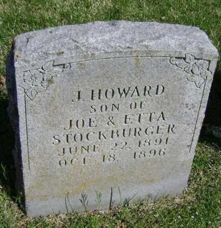 STOCKBURGER, J. HOWARD - Washington County, Arkansas   J. HOWARD STOCKBURGER - Arkansas Gravestone Photos