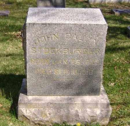 STOCKBURGER, JOHN CALVIN - Washington County, Arkansas | JOHN CALVIN STOCKBURGER - Arkansas Gravestone Photos