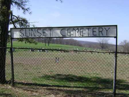 *SUNSET CEMETERY SIGN,  - Washington County, Arkansas    *SUNSET CEMETERY SIGN - Arkansas Gravestone Photos