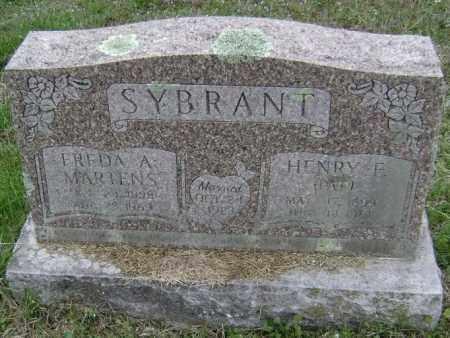 MARTENS SYBRANT, FREDA A. - Washington County, Arkansas   FREDA A. MARTENS SYBRANT - Arkansas Gravestone Photos