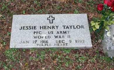 TAYLOR  (VETERAN WWII), JESSIE HENRY - Washington County, Arkansas   JESSIE HENRY TAYLOR  (VETERAN WWII) - Arkansas Gravestone Photos