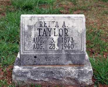 TAYLOR, RETTA A. - Washington County, Arkansas | RETTA A. TAYLOR - Arkansas Gravestone Photos