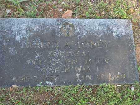 TONEY (VETERAN WWI), RALPH A - Washington County, Arkansas | RALPH A TONEY (VETERAN WWI) - Arkansas Gravestone Photos